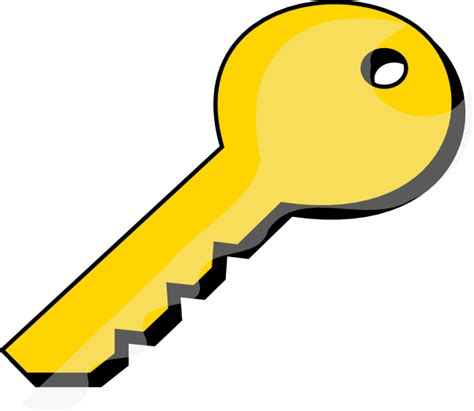 key clipart gold key clip at clker vector clip