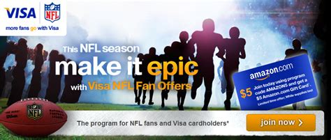 free 5 amazon gift card for visa cardholders bargainbriana - Nfl Visa Gift Cards