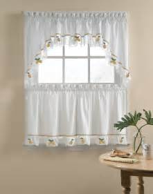 lemons 5 kitchen curtain tier set curtainworks