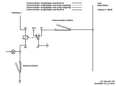 Motorrad Seitenständer Schalter Funktion schalter f 252 r seitenst 228 nder