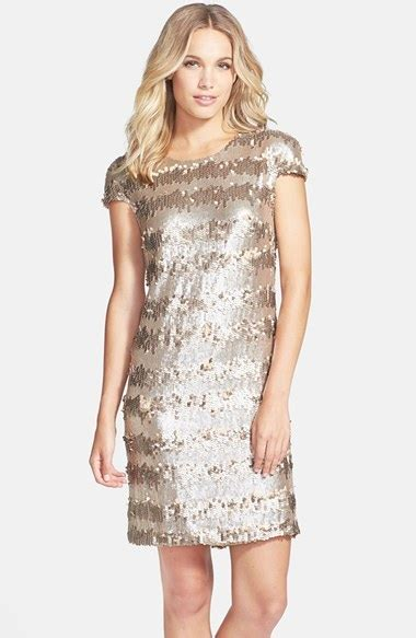 Verra Silver Gold Original vera wang gold paillette sequin shift dress where to buy
