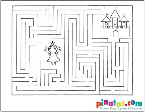 princess maze coloring page 4 best images of printable castle mazes castle garden