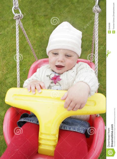 swing for older babies baby swings royalty free stock photos image 3346288