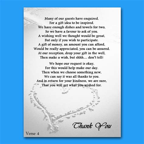 poems for bridal shower invitations money wedding money gift voucher poem cards for invites a7 or a6