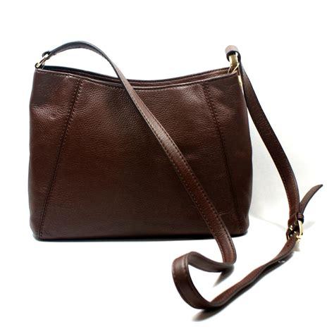 bag swing michael kors fulton mocha genuine leather medium crossbody