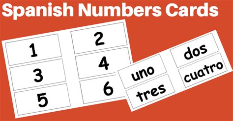 printable number flashcards in spanish elementary spanish resources spanish4teachers org