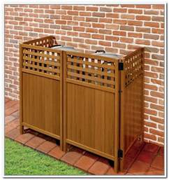 Garbage Bin Storage Ideas Trash Can Storage Outdoor Home Design Ideas Outside