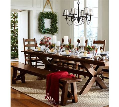 pottery barn toscana bench toscana extending rectangular dining table pottery barn