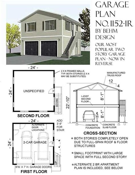 two story apartment floor plans 1000 images about garage plans by behm design pdf plans on