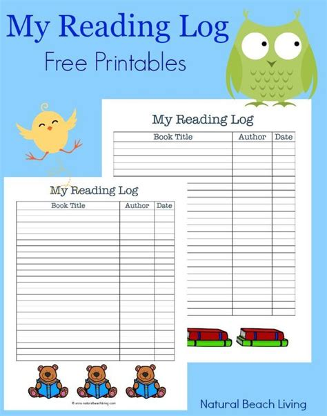 themed monthly reading logs modern preschool preschool themes free printables and track on pinterest