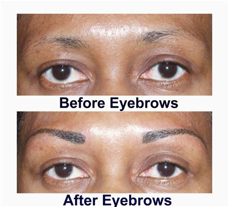 cosmetic tattoo training eyebrow before and after pictures permanent