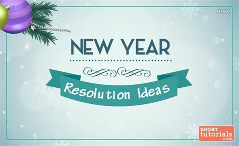 list of new year s resolution ideas