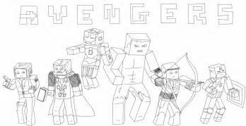 Minecraft Avengers By Callenia On DeviantArt sketch template