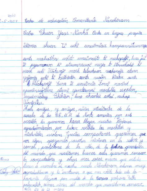 Thank You Letter To The From Student Shuarhands