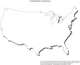 Us States Blank Map by Blank Map Of United States Clipart Best