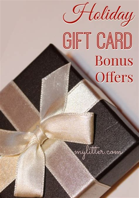 holiday gift card bonus offers for restaurants and retail