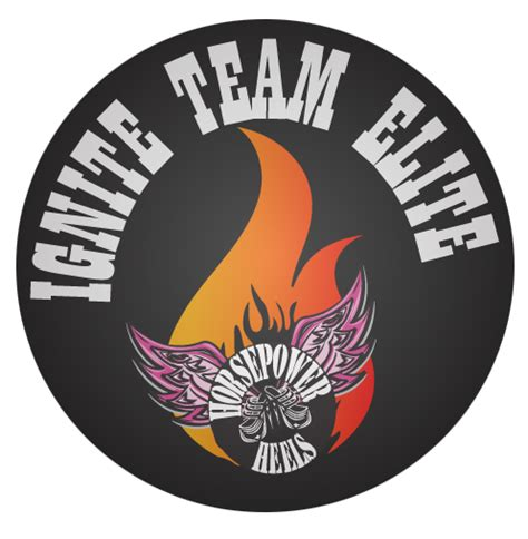 team elite logo reignite team ignite 25 membership horsepower heels