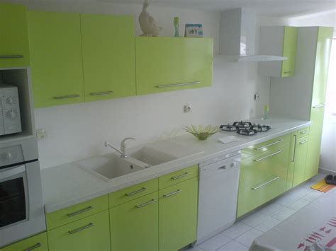 cuisine peinte en vert cuisine blanc peinture