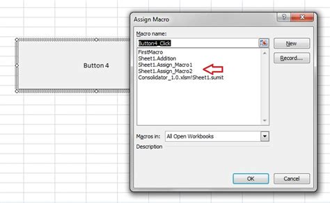 git tutorial exle excel vba macro assign a macro to a button 3
