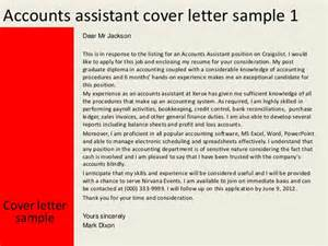 Account Analyst Cover Letter by Accounts Assistant Cover Letter