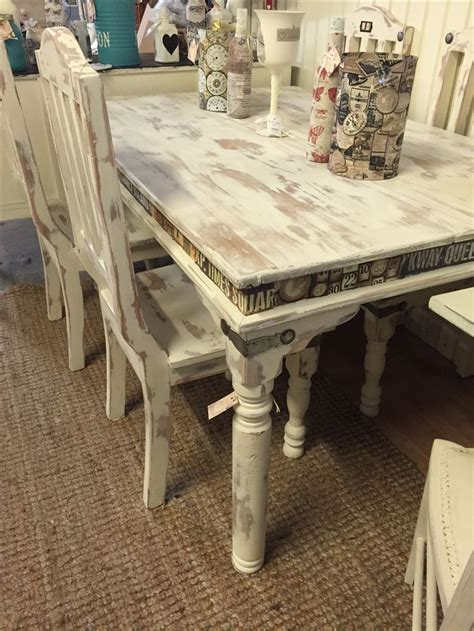 shabby chic table and chairs fabric decoupage shabby
