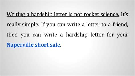 Hardship Letter For A Sale How To Write A Hardship Letter For Your Naperville Sale
