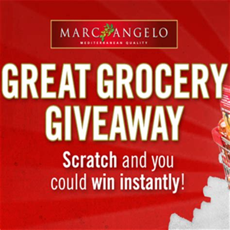 Great Grocery Giveaway 2016 - marc angelo great grocery giveaway instant win contest