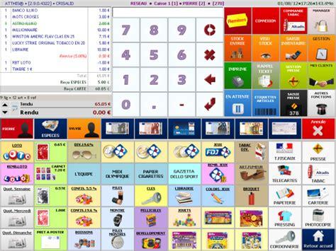 logiciel bureau atthis logiciel de caisse tactile tabac presse librairie