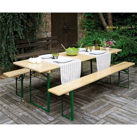 banc de musculation pliable metal for crafts table banquet pliable avec bancs en bois et m 233 tal set