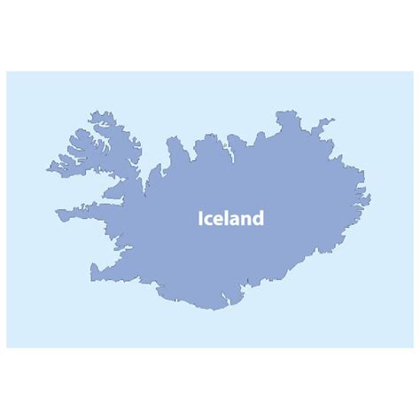 iceland map vector iceland map vector