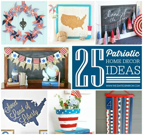 Patriotic Decor For Home with 4th Of July Mantel