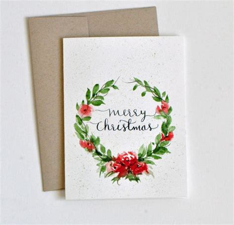 watercolour quotes tutorial hand painted watercolor christmas card watercolor flowers
