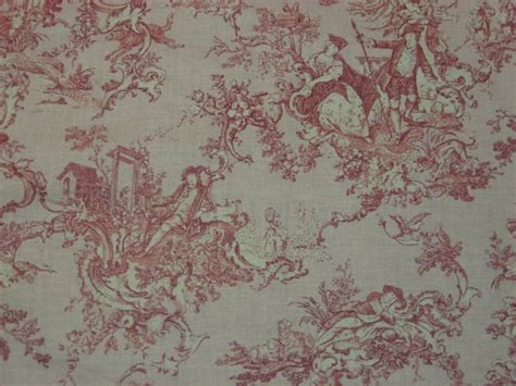 country fabrics by the yard country 100 cotton pink toile early american or