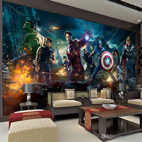 bedroom ideas for couples wallpaper hd kuovi the avengers wall mural hulk captain americ thor photo