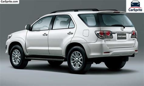 Toyota Fortuner Price Toyota Fortuner 2017 Prices And Specifications In