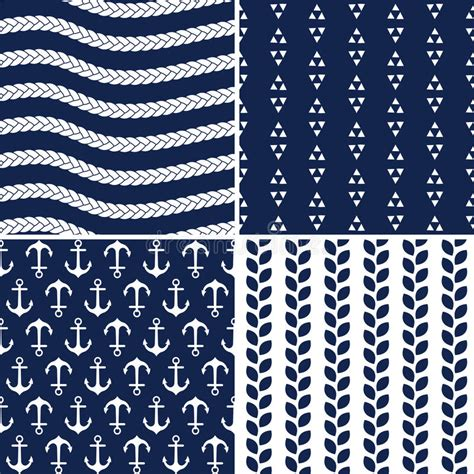 navy pattern vector seamless navy and white nautical patterns stock vector