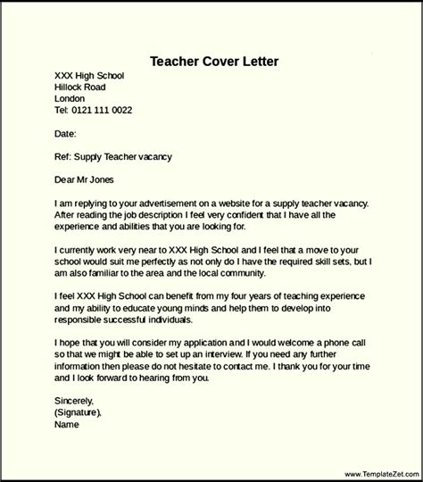 Elementry School Cover Letter by Cover Letter Elementary School