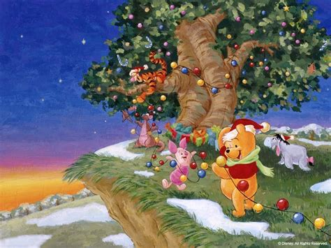 cartoon pictures winnie pooh christmas