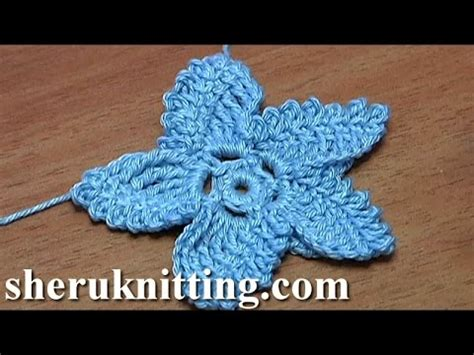 Flat Flower Channel crochet sea flat flower tutorial 18 かぎ針編みのスターフラワー