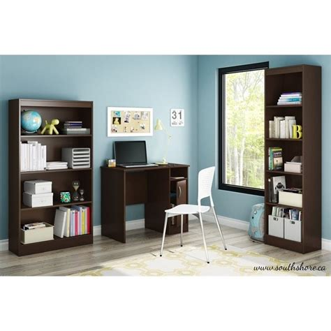 South Shore Small Desk South Shore Axess Small Desk In Chocolate 7259075