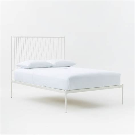 west elm twin bed stella metal bed white west elm furniture