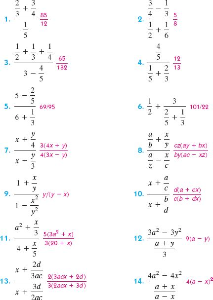 Complex Fraction Worksheet by Complex Fraction Worksheet Photos Dropwin