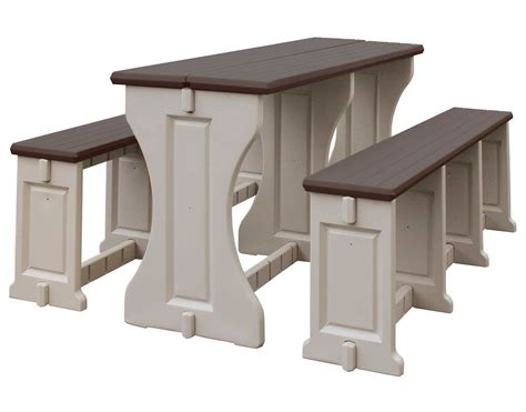 patio picnic bench table set picnic table and bench set all resin by confer plastics in patio dining tables