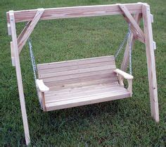 free standing bench swing swing seat wooden garden swing seat with wood frame 2