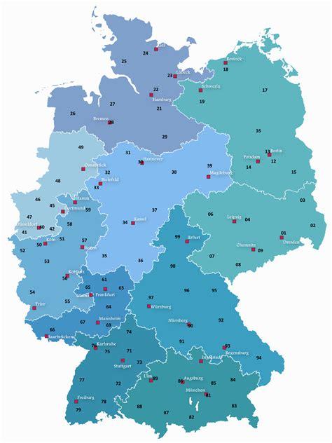 karte deutschland deutschlandkarte mit postleitzahlen
