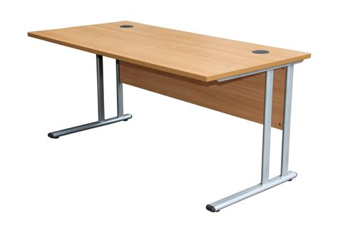 Beech Office Desks Office Desk In Beech Oak Or White 1600mm