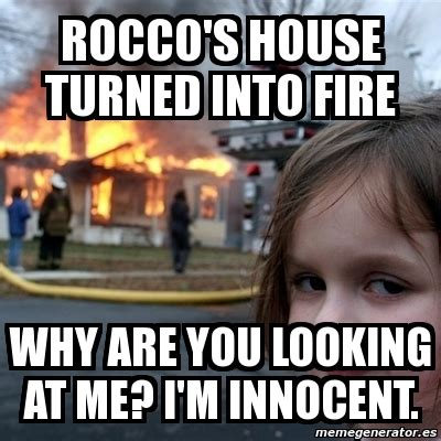 girl house fire meme meme disaster girl rocco s house turned into fire why are you looking at me i m