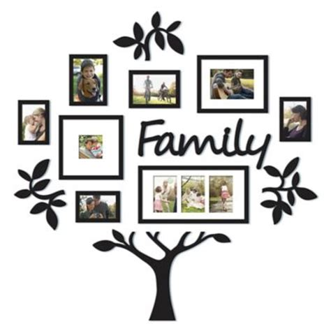 9 piece family tree wall photo frame set hanging frames gifts under 50 gt wallverbs family tree 9 piece family