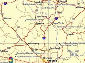 of arizona maps map of prescott arizona map travel