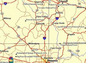arizona map prescott map of prescott arizona map travel
